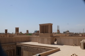 Wind tower and rooftops in Yazd