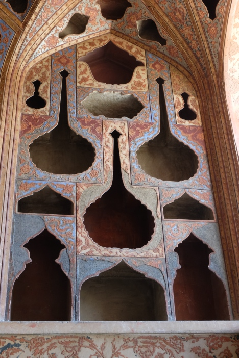 Detail in the music room, Ali Qapu Palace, Isfahan