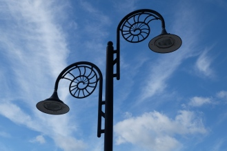 Ammonite Lamp Posts, Lyme Regis, Dorset