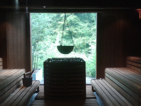 Sauna at Limewood House, Hampshire